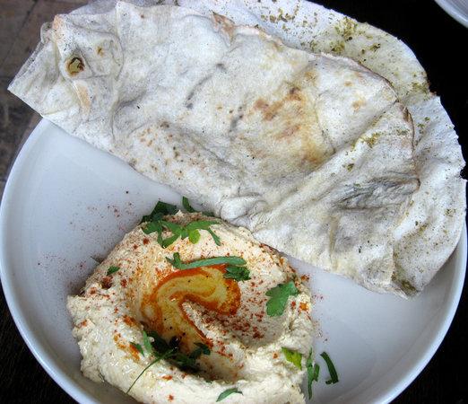 Hummus & Laffa bread - OMG - Zahav