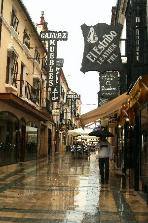 Juzcar, Spanyol: A rainy day in Ronda, Andalusia
