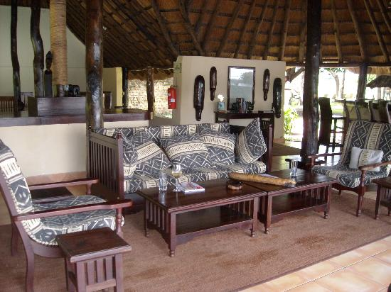 Thorntree River Lodge- African Bush Camps: The lounge area