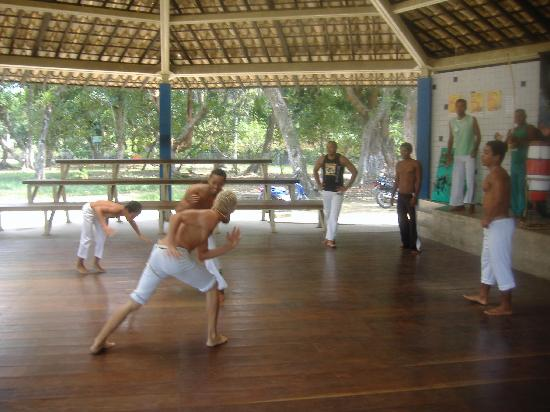 Porto Seguro, BA: Capoeira display in the old town.
