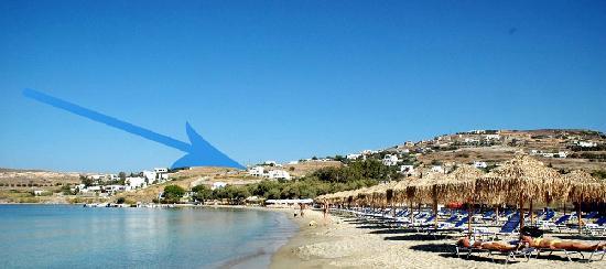 Paros Paradise Apartments : full-organized sandy beach