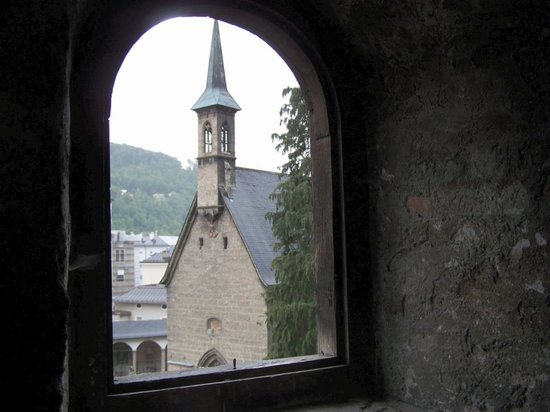 View from the catacombs in Salzburg Old Town Salzberg