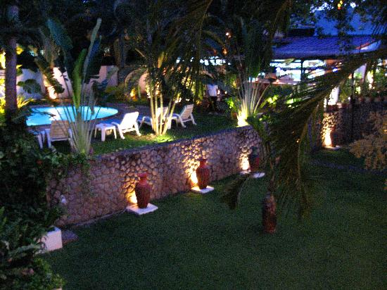 Kata Villa: A meal by the pool in the evening