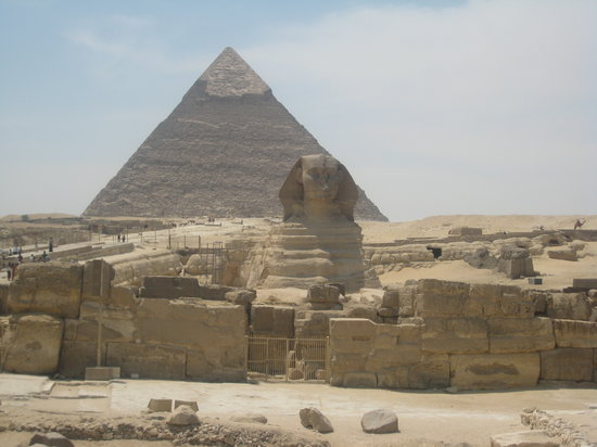 Cairo, Egypt: View of the Pyramids