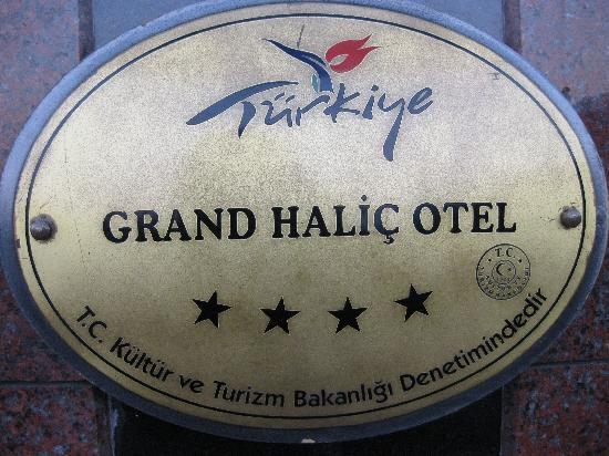 Grand Hotel Halic: Hotel Name Plate