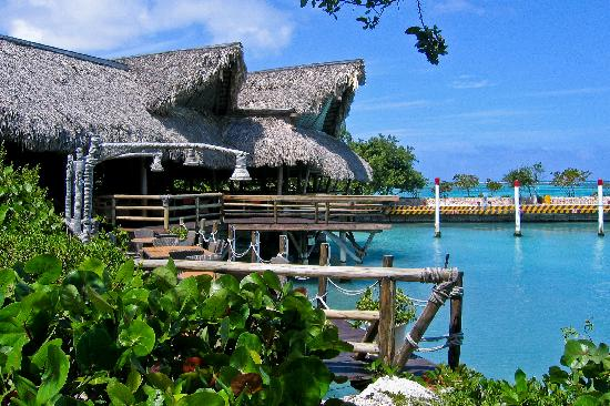 Tortuga Bay Hotel Puntacana Resort & Club: La Yola restaurant and the Marina