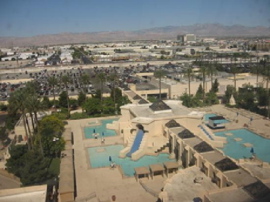 View of pools from our 12th floor room picture of luxor - Luxor hotel las vegas swimming pool ...