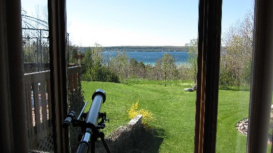 Island View B&B: telescope