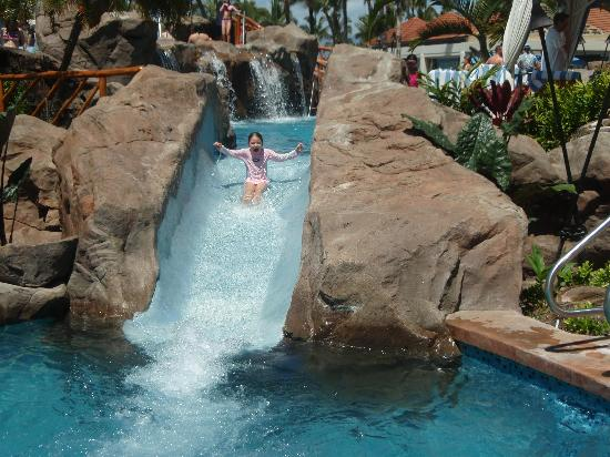 Ho'olei at Grand Wailea: One of the water slides at grand Wailea resort