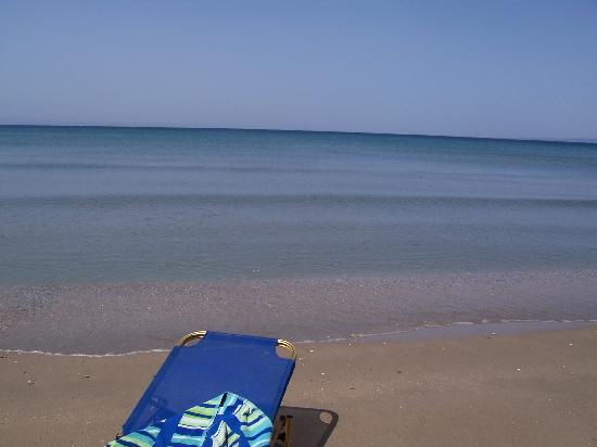 "Katerina Palace Hotel: View from ""our beach"" !!!"
