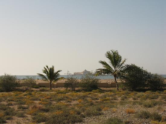 Barka, Oman: vue sur la mer de notre chambre