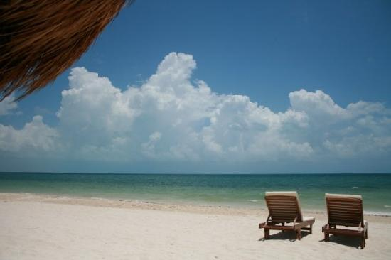 Beloved Playa Mujeres: The beach at La Amada - a 5 minute walk from our room