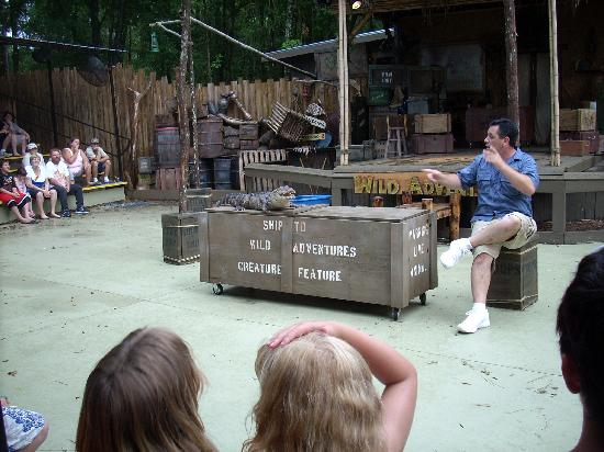 Wild Adventures Theme Park: Chris doing the alligator and snake show