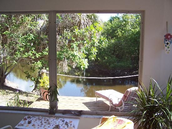West-End Paradise: from the living room, thru the lanai,across the deck to the lagoon