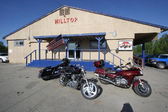 Hilltop Truck Stop: Don't let the outside fool you.  Good eats lie within!