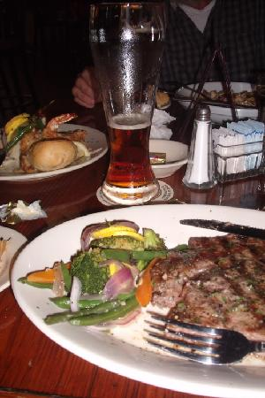 Crescent City Brewhouse: my steak and veggies