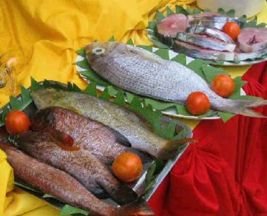Fresh Seafood offerings Daily at the Balay Tubay Bistro