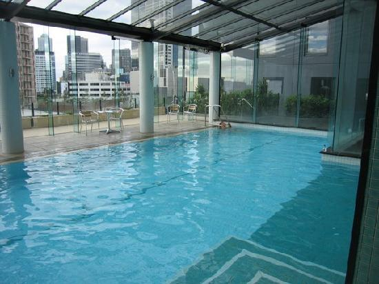 Looking up from the swimming pool in the apartments picture of melbourne short stay apartments for Swimming pool covers melbourne