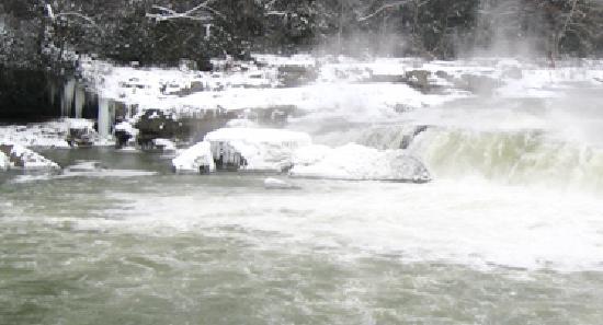 Ohiopyle State Park: Ohiopyle Falls  Winter beauty