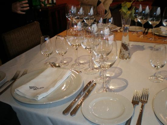Ampora Wine Tours: Ruca Malen Dining Table