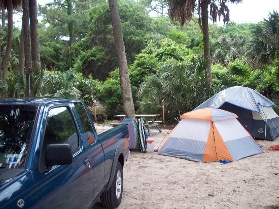 Hunting Island State Park Campground: campsite 78 loop 3  had plenty of room and near beach