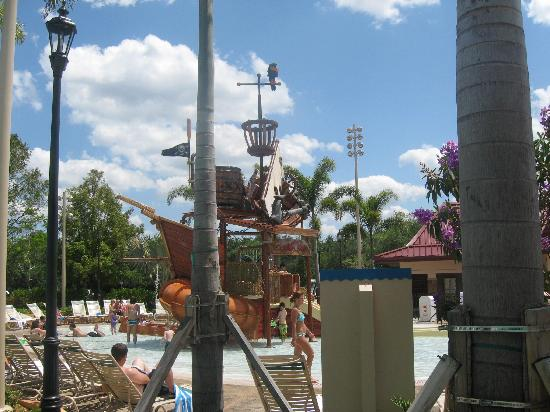 Disneys Caribbean Beach Resort Kids Area At The Main Pool