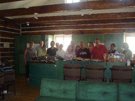 Chalets-Village Mont-Sainte-Anne : In the kitchen with Pierre