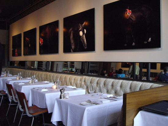 Proof on Main: Horse images and dining in the main dining room