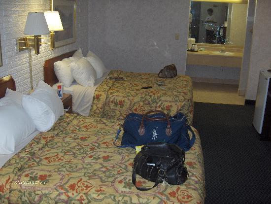 Days Inn Absecon-Atlantic City: First view of the room. Not too bad