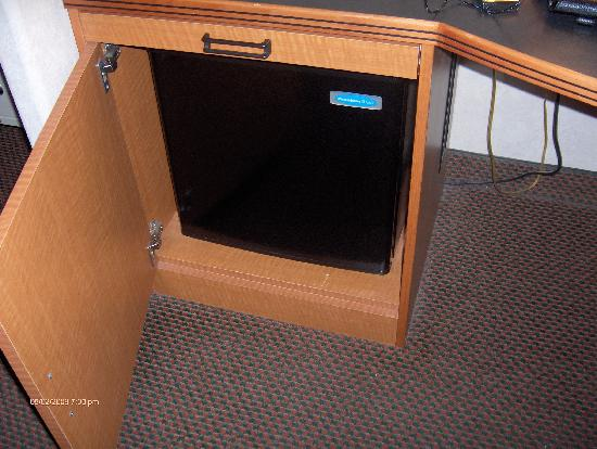 Sleep Inn & Suites Emmitsburg: mini-fridge tucked away neatly inside nice desk