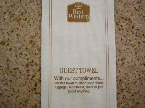 "BEST WESTERN PLUS Capitola By-the-Sea Inn & Suites: ""Guest"" Towel"