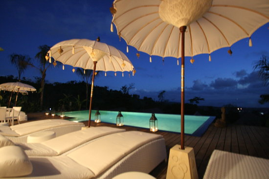 Oxygen Jungle Villas: Bali-atmosphere by night