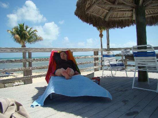 Caloosa Cove Resort & Marina : Relaxing by the pool
