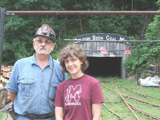 Seldom Seen Tourist Coal Mine: Our knowledgeable guide poses