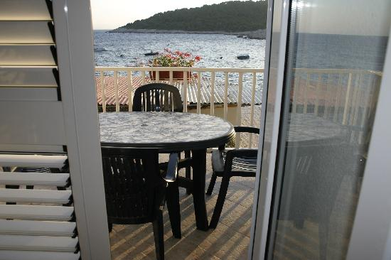 Kod Barba Bozjeg: Balkon mit Meerblick