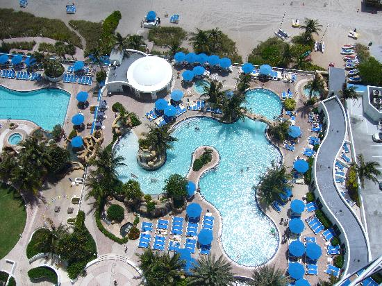 Trump International Beach Resort Pool Viewed From The Balcony