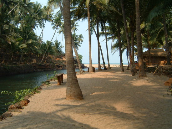 Candolim, Indien: The beach down south