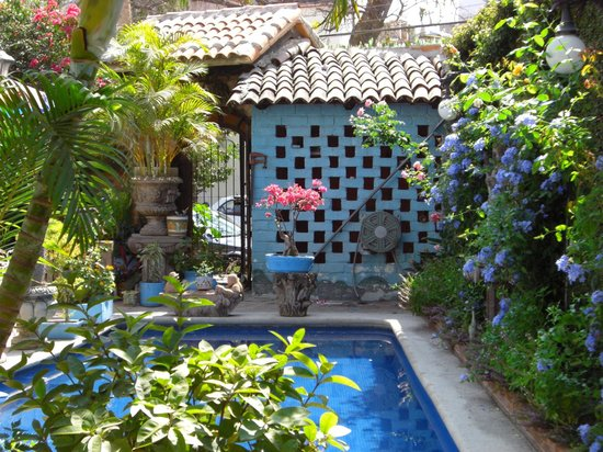 Casa Fantasia:                                     lush courtyard pool