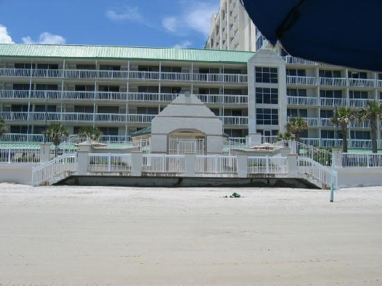 view from beach picture of daytona beach resort and. Black Bedroom Furniture Sets. Home Design Ideas