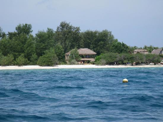 Alam Gili from the water while out snorkeling