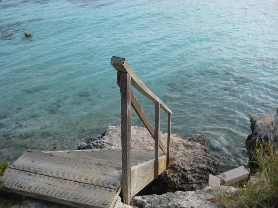 Paradise Found: Stairs to the beach across the street