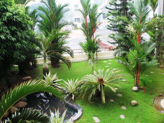 Gokulam Park: View from the restaurant