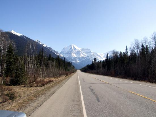 Mount Robson From Busy Yellowhead Highway 2 May 2009