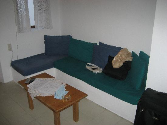 Uranos Traditional Houses: couch in 1st room