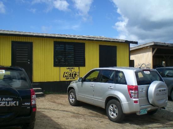 The Baths: Hertz Rental Car Office