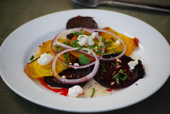 CasaLana Gourmet Retreats: red & yellow beet salad -- from scratch