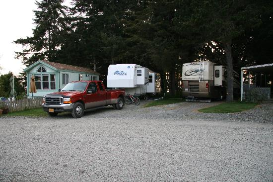 Sounds of the Sea RV Park - the two ocean view sites next to rental house
