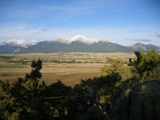 KOA Campground: View of Mt. Princeton from rocks