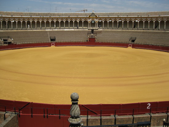 Plaza de Toros de la Maestranza : Entry View of Empty Maestranza