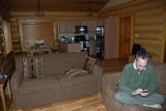 Alpine Meadows Resort : Living area of our Alpine Meadows cabin